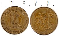 Изображение Монеты Западная Африка 10 франков 1982 Латунь XF