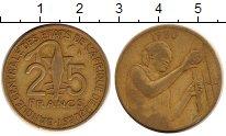 Изображение Монеты Западная Африка 25 франков 1980 Латунь XF