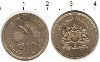 Изображение Монеты Африка Марокко 10 сантим 1974 Латунь XF