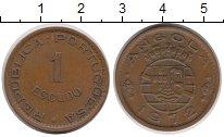 Изображение Монеты Ангола 1 эскудо 1972 Медь XF
