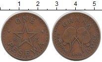 Изображение Монеты Гана 1 песева 1975 Бронза XF