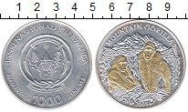 Изображение Монеты Руанда 1000 франков 2008 Серебро UNC-