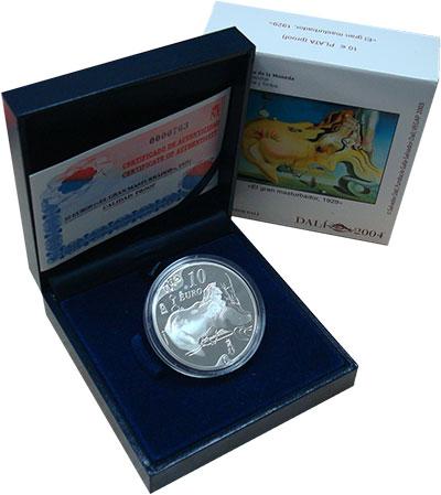 Изображение Подарочные монеты Испания 10 евро 2004 Серебро Proof