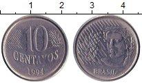 Изображение Дешевые монеты Южная Америка Бразилия 10 сентаво 1994 Медно-никель XF