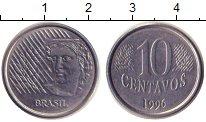 Изображение Дешевые монеты Бразилия 10 сентаво 1996 Медно-никель XF