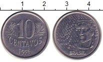 Изображение Дешевые монеты Южная Америка Бразилия 10 сентаво 1996 Медно-никель XF