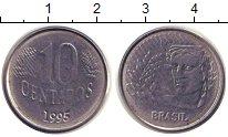 Изображение Дешевые монеты Южная Америка Бразилия 10 сентаво 1995 Медно-никель XF
