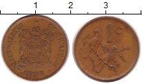 Изображение Дешевые монеты ЮАР 1 цент 1985 Медь XF