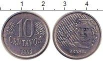 Изображение Дешевые монеты Бразилия 10 сентаво 1995 нержавеющая сталь XF