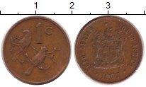 Изображение Дешевые монеты Африка ЮАР 1 цент 1977 Медь VF