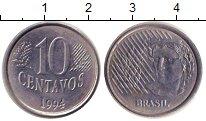 Изображение Дешевые монеты Бразилия 10 сентаво 1994 Медно-никель