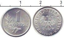 Изображение Дешевые монеты Европа Польша 1 грош 1949