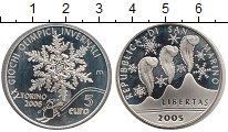 Изображение Монеты Сан-Марино 5 евро 2005 Серебро Proof-