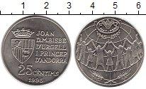 Изображение Монеты Андорра 25 сентим 1995 Медно-никель UNC