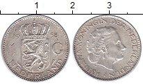 Изображение Монеты Европа Нидерланды 1 гульден 1958 Серебро XF