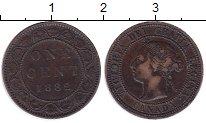 Изображение Монеты Северная Америка Канада 1 цент 1882 Медь XF