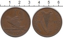 Изображение Монеты Европа Ирландия 1 пенни 1937 Бронза XF