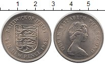 Изображение Монеты Великобритания Остров Джерси 10 пенсов 1968 Медно-никель UNC-