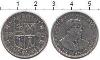 Изображение Дешевые монеты Маврикий 1 рупия 2002  VF