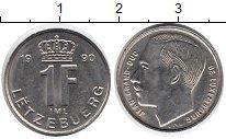 Изображение Дешевые монеты Люксембург 1 франк 1990 Сталь AUNC