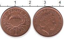 Изображение Дешевые монеты Гернси 1 пенни 1998 сталь с медным покрытием XF