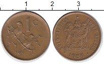 Изображение Дешевые монеты ЮАР 1 цент 1985 Бронза VF