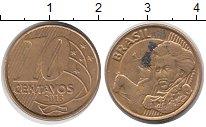 Изображение Дешевые монеты Южная Америка Бразилия 10 сентаво 2013 Латунь-сталь VF