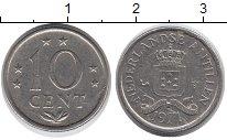 Изображение Дешевые монеты Антильские острова 10 центов 1971 Медно-никель XF