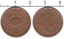 Изображение Дешевые монеты Великобритания Гернси 1 пенни 1998 сталь с медным покрытием XF