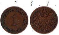 Изображение Дешевые монеты Европа Германия 1 пфенниг 1908 Бронза VF