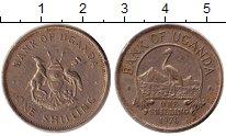 Изображение Дешевые монеты Африка Уганда 1 шиллинг 1976 Сталь покрытая никелем VF-