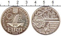 Изображение Монеты Европа Нидерланды 20 евро 1998 Серебро Proof-