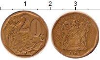 Изображение Мелочь Африка ЮАР 20 центов 0 Латунь XF