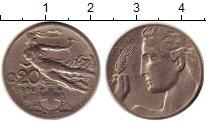 Изображение Монеты Италия 20 чентезимо 1920 Медно-никель XF