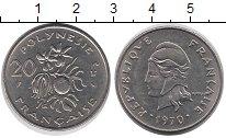 Изображение Монеты Полинезия 20 франков 1970 Медно-никель XF+
