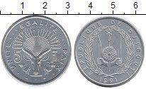 Изображение Монеты Африка Джибути 5 франков 1991 Алюминий UNC-