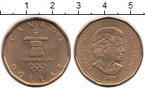 Изображение Монеты Северная Америка Канада 1 доллар 2010 Латунь UNC-