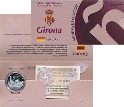 Изображение Подарочные монеты Европа Испания 5 евро 2011 Серебро Proof