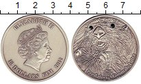 Изображение Монеты Фиджи 10 долларов 2012 Серебро UNC Животные