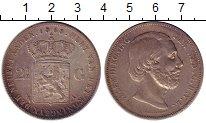 Изображение Монеты Нидерланды 2 1/2 гульдена 1868 Серебро XF-