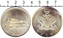 Изображение Монеты Европа Мальта 2 фунта 1972 Серебро UNC-