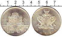 Изображение Монеты Мальта 4 фунта 1974 Серебро UNC- Ворота Коттонера