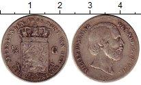 Изображение Монеты Европа Нидерланды 1/2 гульдена 1858 Серебро VF