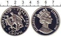 Изображение Монеты Великобритания Гибралтар 1 крона 1990 Серебро Proof