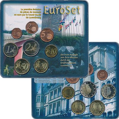 Изображение Подарочные монеты Европа Люксембург Евронабор 2002  UNC