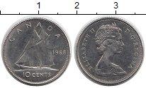 Изображение Мелочь Северная Америка Канада 10 центов 1968 Серебро XF