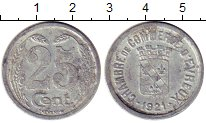 Изображение Монеты Франция 25 сантим 1921 Алюминий VF