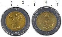 Изображение Монеты Европа Сан-Марино 500 лир 1983 Биметалл UNC-