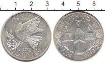 Изображение Монеты Сан-Марино 5000 лир 2001 Серебро UNC-