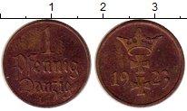 Изображение Монеты Польша Данциг 1 пфенниг 1923 Бронза XF